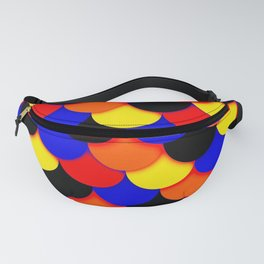 Polyamory Pride Scalloped Scales Pattern Fanny Pack