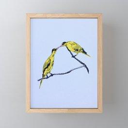 Commitment | line illustration of birds Framed Mini Art Print