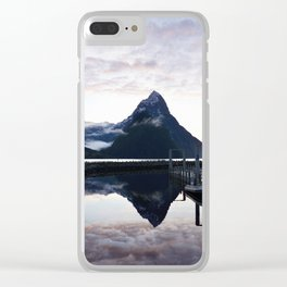 Sunset to die for at Milford Sound Clear iPhone Case