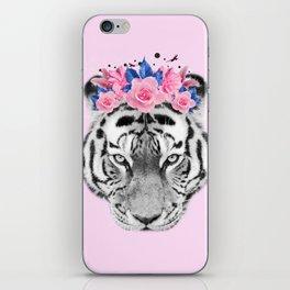 Floral Tiger iPhone Skin