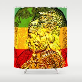 Haile Selassie Empress Menen Rasta Royalty Shower Curtain