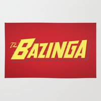 bazinga Area & Throw Rugs featuring The Bazinga by thom2maro