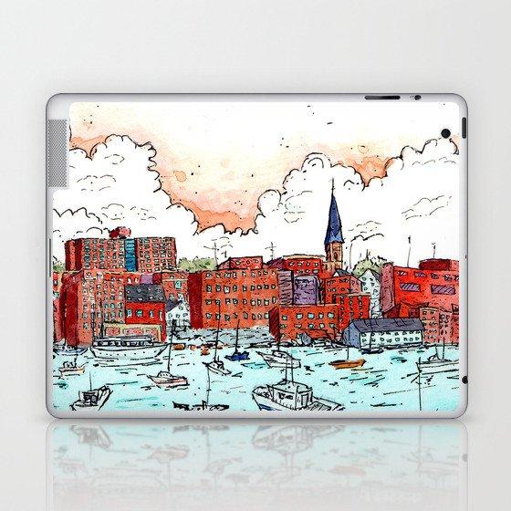 Portland, Maine Harbor Laptop & iPad Skin
