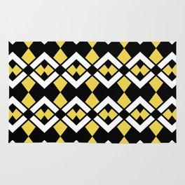 Zig Zag Pattern Yellow Rug