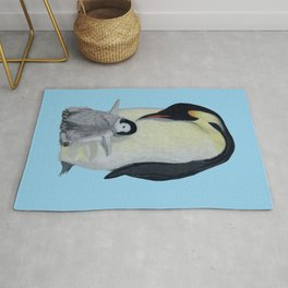 Penguin Mother and Chick Rug
