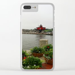 Seven Foot Knoll Light - Baltimore Inner Harbor Clear iPhone Case