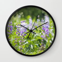 When the Lupine Blooms Wall Clock