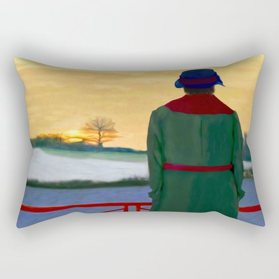Can Spring be far behind? Rectangular Pillow