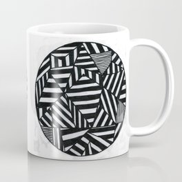 Stripes filled circle Coffee Mug