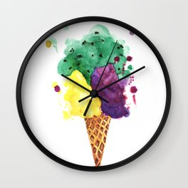 Ice Cream - 3 Scoops! Wall Clock