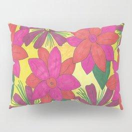 Bohemian Floral Garden Print Pillow Sham