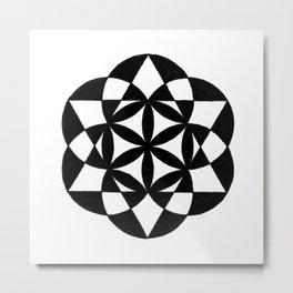 Retro Geometry Metal Print