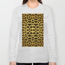 Leopard Print - Gold Long Sleeve T-shirt