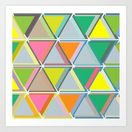 Triangles to the Third Degree Art Print