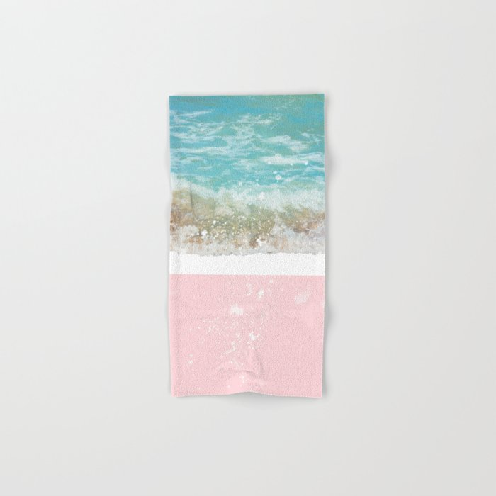 Blue Wave On Pink Hand & Bath Towel