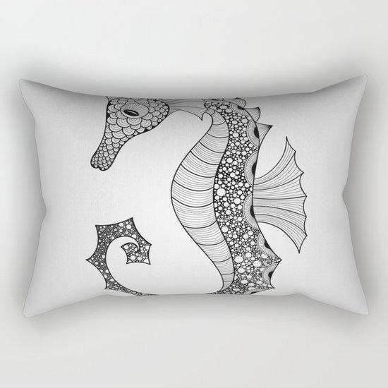 Drawn Seahorse Rectangular Pillow
