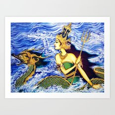 SEA QUEEN Art Print