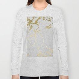 Kintsugi Ceramic Gold on Lunar Gray Long Sleeve T-shirt
