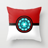 pokeball Throw Pillows featuring Pokeball Reactor by aleha