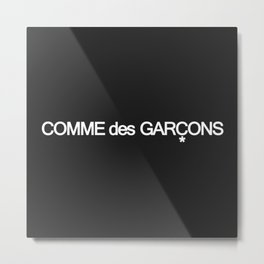 Comme Des Garçons Text Logo Metal Print