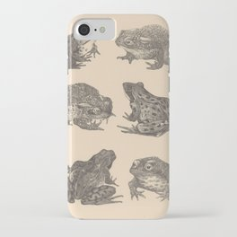 Naturalist Frogs iPhone Case