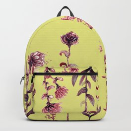 yellow pink flowers Backpack