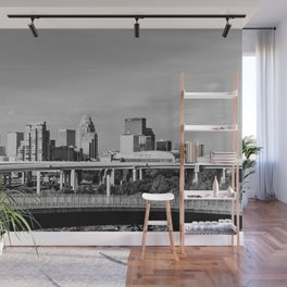 Downtown Louisville - Black and White Wall Mural