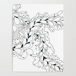 Flower Bud Doodle Poster