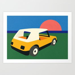 Sunset Car Art Print