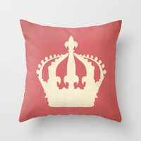 crown Throw Pillows featuring crown by Carl Christensen