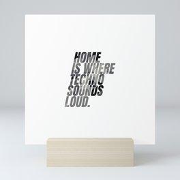 Techno home | Djs gift | camouflage version Mini Art Print