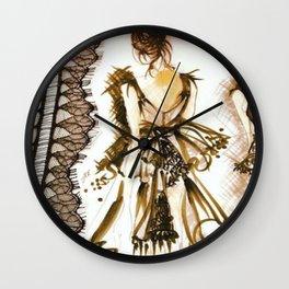 LITTLE BLACK COUTURE DRESS Wall Clock