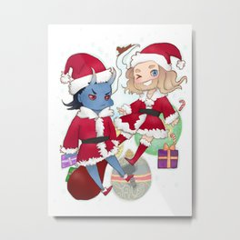 The Jotun Who Stole Christmas (Thorki) Metal Print