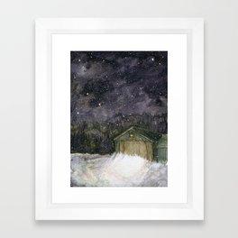 Snow Shed Framed Art Print