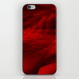 Scarlet Feathers iPhone Skin