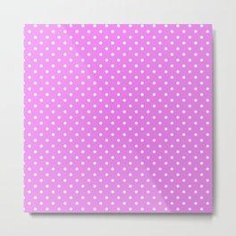 Dots (White/Violet) Metal Print