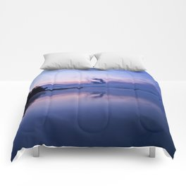 Tranquil blue nature Comforters