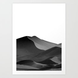 dunes(Black and white) Art Print
