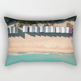 Brighton Beach Bathing Boxes Melbourne From Above Rectangular Pillow