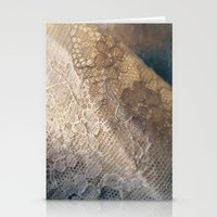lace Stationery Cards featuring lace by messy bed studio