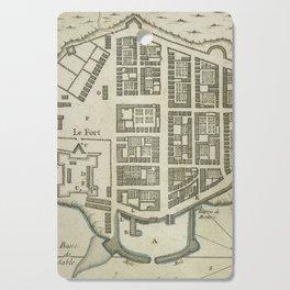 Vintage Map of Lower Manhattan (1764) Cutting Board