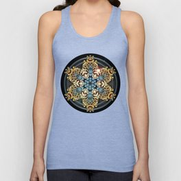 Decorative Golden Tin Unisex Tank Top