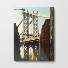 Manhattan Bridge view 3 Metal Print
