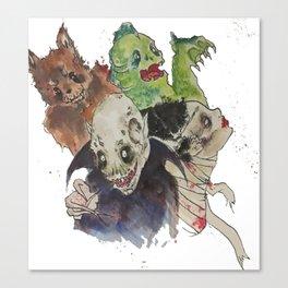 A Graveyard Smash Canvas Print