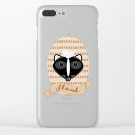 Mademoiselle Skunk Clear iPhone Case