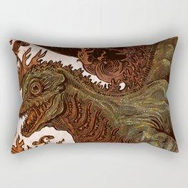 Kaiju In Flames  Rectangular Pillow