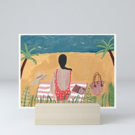 At the beach Mini Art Print