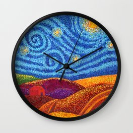 Grounding Hills Wall Clock