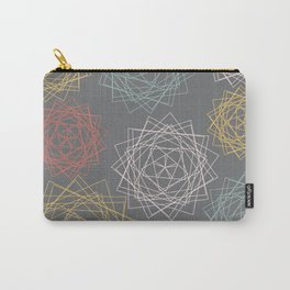 Dark Pastel Origami Blooms Carry-All Pouch