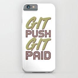 Fun Git Push Git Paid ASCII and Git Lover Coding Humor Programmer Gift iPhone Case